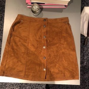 Abercrombie and Fitch Suede Skirt- M